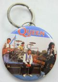 Queen - 'On Stage' Large Round Keyring